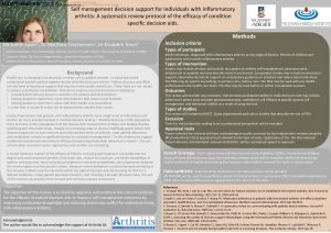 Patientcentred care in established rheumatoid arthritis M J