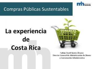 Compras Pblicas Sustentables La experiencia de Costa Rica