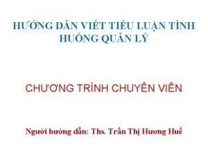 HNG DN VIT TIU LUN TNH HUNG QUN