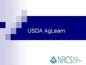 USDA Ag Learn What is Ag Learn http