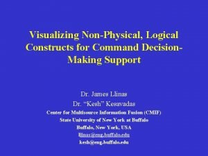 Visualizing NonPhysical Logical Constructs for Command Decision Making