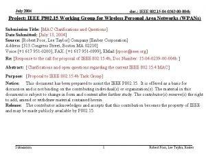 July 2004 doc IEEE 802 15 04 0363