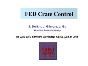 FED Crate Control S Durkin J Gilmore J