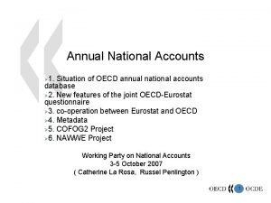 Annual National Accounts 1 Situation of OECD annual