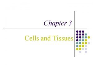 Chapter 3 Cells and Tissues Cells and Tissues