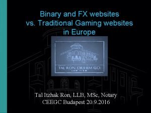 Binary and FX websites vs Traditional Gaming websites