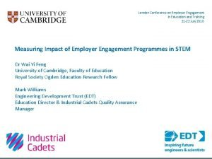 London Conference on Employer Engagement in Education and