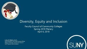 Diversity Equity and Inclusion Faculty Council of Community