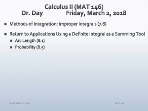 Friday March 2 2018 MAT 146 Friday March