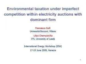 Environmental taxation under imperfect competition within electricity auctions