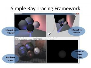Simple Ray Tracing Framework Interactive Preview Ray Trace
