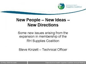 New People New Ideas New Directions Some new