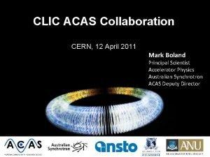 CLIC ACAS Collaboration CERN 12 April 2011 Mark
