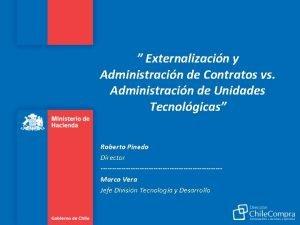 Externalizacin y Administracin de Contratos vs Administracin de