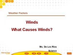 Weather Factors Winds What Causes Winds Ms De