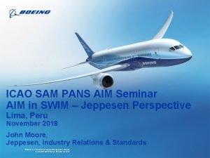 ICAO SAM PANS AIM Seminar AIM in SWIM
