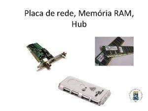 Placa de rede Memria RAM Hub Placa de