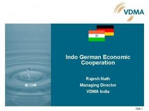 Indo German Economic Cooperation Rajesh Nath Managing Director