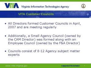 VITA Customer Councils All Directors formed Customer Councils