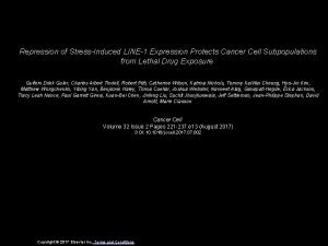 Repression of StressInduced LINE1 Expression Protects Cancer Cell