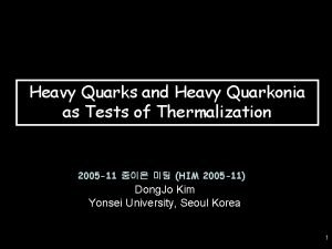 Heavy Quarks and Heavy Quarkonia as Tests of