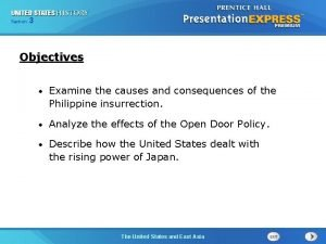 325 Section Chapter Section 1 Objectives Examine the
