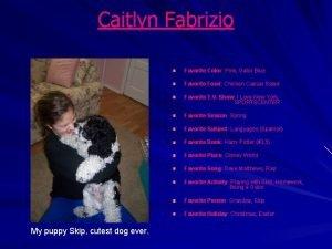Caitlyn Fabrizio Favorite Color Pink Gator Blue Favorite