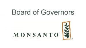 Board of Governors Sustaining Members Board of Directors