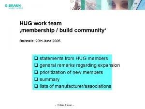 HUG work team membership build community Brussels 20