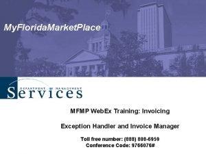My Florida Market Place MFMP Web Ex Training