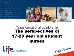 Transformational Leadership The perspectives of 17 29 year