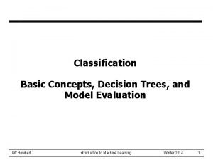 Classification Basic Concepts Decision Trees and Model Evaluation