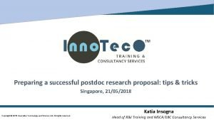 Preparing a successful postdoc research proposal tips tricks