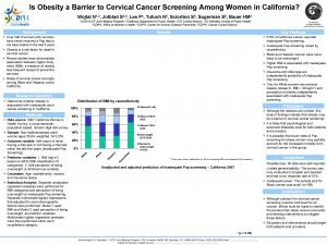 Is Obesity a Barrier to Cervical Cancer Screening