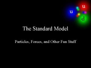 The Standard Model Particles Forces and Other Fun
