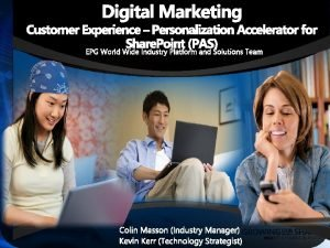 Digital Marketing Customer Experience Personalization Accelerator for Share