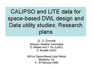 CALIPSO and LITE data for spacebased DWL design