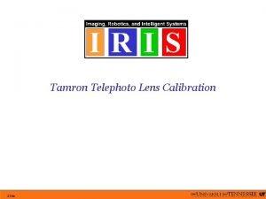 Tamron Telephoto Lens Calibration Slide Lens Specifications Tamron