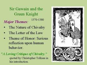 Sir Gawain and the Green Knight 1370 1380