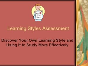 Learning Styles Assessment Discover Your Own Learning Style