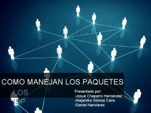 COMO MANEJAN LOS PAQUETES Presentado por LOS Josu