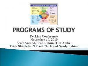 PROGRAMS OF STUDY Perkins Conference November 10 2010