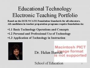 Educational Technology Electronic Teaching Portfolio Based on the