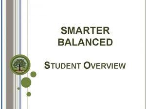 SMARTER BALANCED STUDENT OVERVIEW Smarter Balanced KEY ELEMENTS