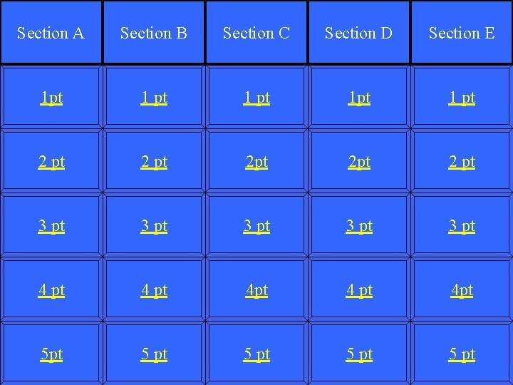 Section A Section B Section C Section D
