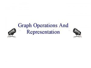 Graph Operations And Representation Sample Graph Problems Path