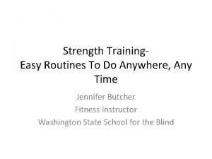 Strength Training Easy Routines To Do Anywhere Any