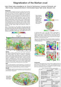 Magnetization of the Martian crust Kathy Whaler kathy