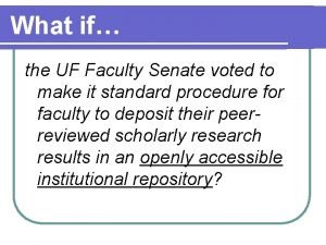 What if the UF Faculty Senate voted to