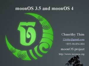 moon OS 3 5 and moon OS 4